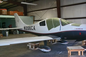 Columbia 350 composite repair by Mansberger Aircraft