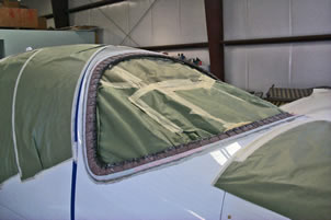 Columbia 350 Windshield Replacement completed by Mansberger Aircraft